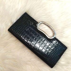 GIANNINI Patent Leather Crocodile Print Clutch